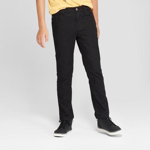 Boys' Skinny Fit Jeans - Cat & Jack™ Black Wash 14 Husky : Targ