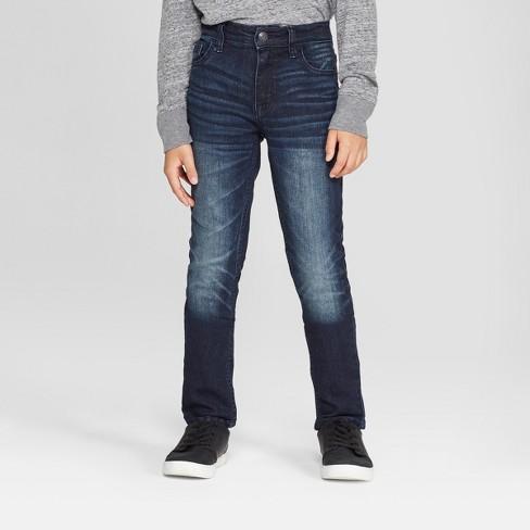 Boys' Stretch Skinny Fit Jeans - Cat & Jack™ Medium Blue : Targ