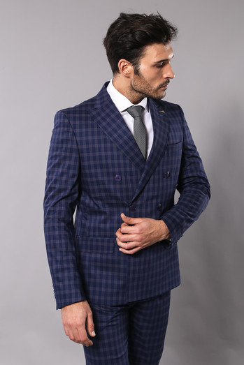 Navy Blue Double Breasted Suit l Clothing Suppli