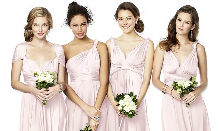 Twist Wrap Bridesmaid Dresses   The Dessy Gro