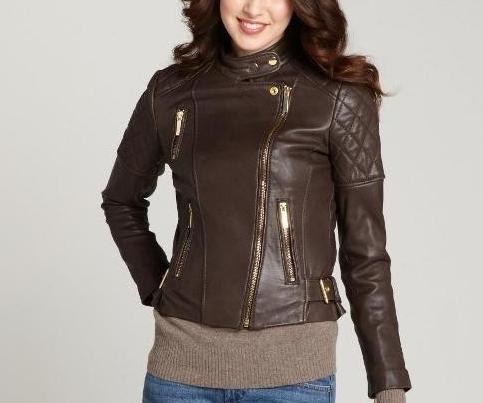 Arrow women dark brown leather jacket – 32455gh – Arrow Shoppi