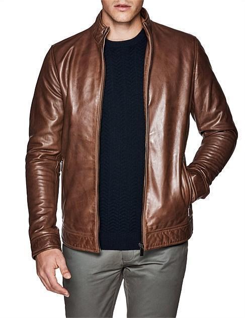 Chopper Luxe Biker Brown Leather Jacket - Custom Leather Jacke