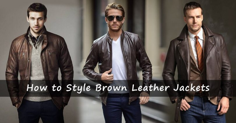 How to Style a Brown Leather Jacket like a professional styli