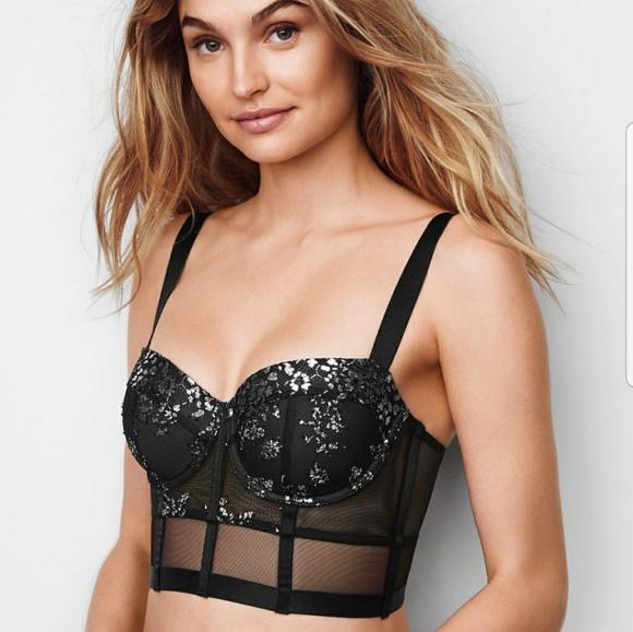 Victoria's Secret Intimates & Sleepwear   Nwt Shine Lace Bustier .