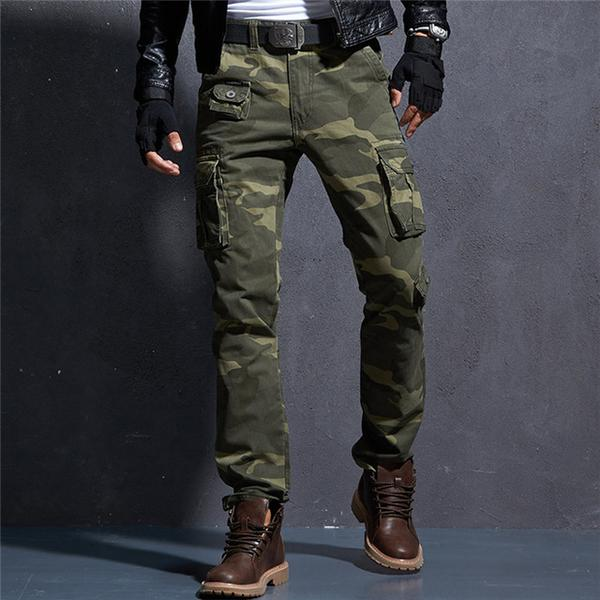 Camouflage Military Pants Men Men's Cargo Army Trousers Mens Tactic