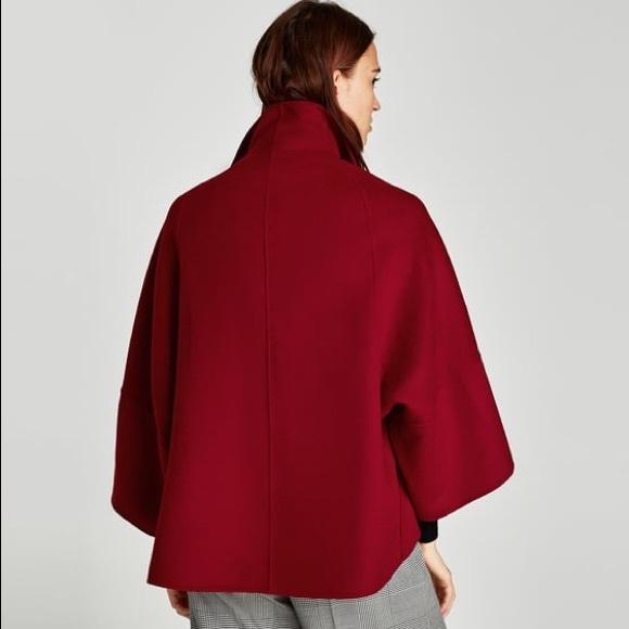 Zara Jackets & Coats | Short Cape Coat | Poshma