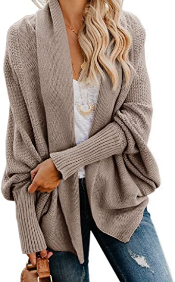 Imily Bela Womens Kimono Batwing Cable Knitted Slouchy Oversized .