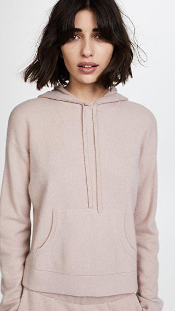 Naadam Oversized Cropped Cashmere Hoodie   SHOPB