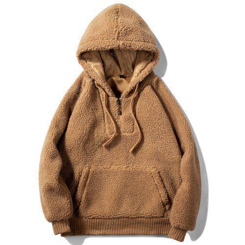 Men's Warm Solid Color Cashmere Hoodie Sweatshirt Sale, Price .