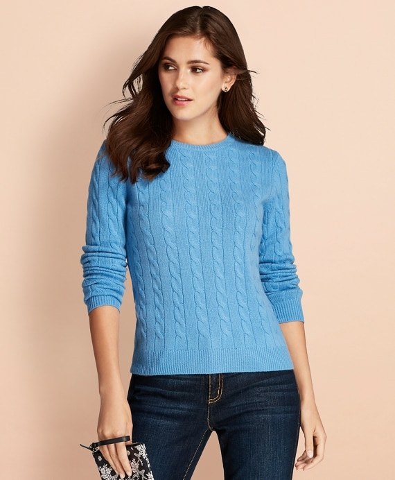 Cable-Knit Cashmere Sweater - Brooks Brothe