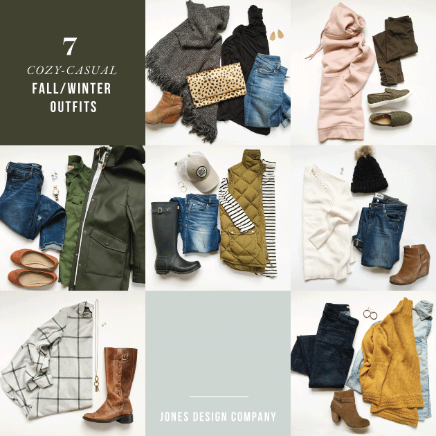 7 Cozy-Casual Outfits for Late Fall / Early Winter | Jones Design .
