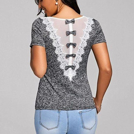 Online Shoppingstore. wanshop Women T-Shirt Short Sleeve Casual .