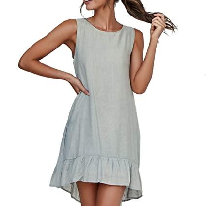 Amazon.com : HKDGID Women's Causal Summer Loose T-Shirt Dress .