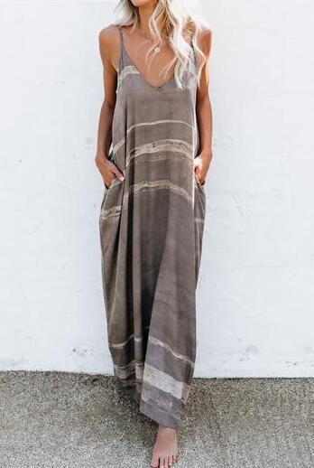Women's Pocket Maxi Dress Summer Casual Strap Dresses in 2020 .