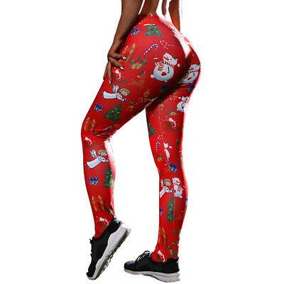 Christmas Tree Print Leggings Christmas Legging Femme High Waist .