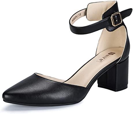 Amazon.com | IDIFU Women's IN2 Pedazo Dress Shoes Low Block Heels .