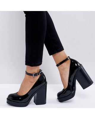 Don't Miss These Deals on ASOS OUTAGE Chunky Heels - Bla