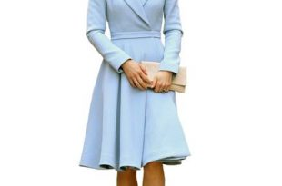 Kate Fit-and-Flared Dress Coat in Baby Blue – Duchess On A Budg