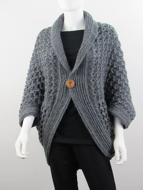 Textured Cocoon Cardigan Crochet Pattern - Crochet Drea