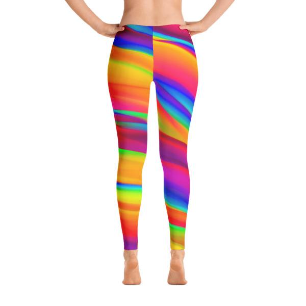 Rainbow Colorful Leggings   Women's Fashion Clothi