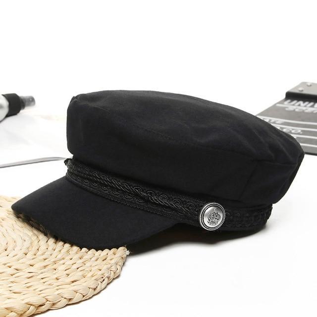 Winter Baseball Cap Women French Style Wool Baker's Boy Hat Cap .