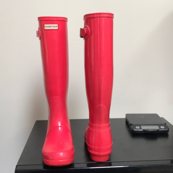 Hunter Shoes | Tall Coral Boots | Poshma