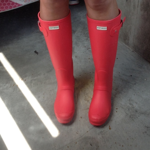 Hunter Shoes | Need To Sell Tonightbright Coral Boots New | Poshma