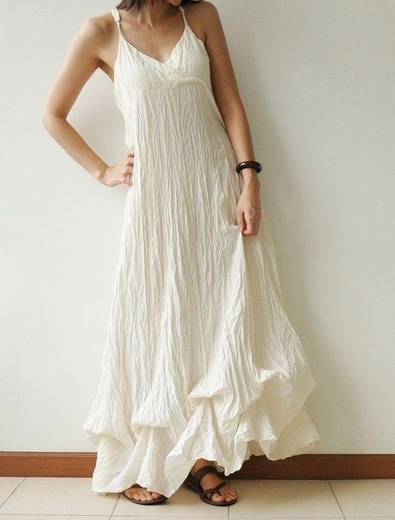 cool summer dress | White cotton summer dress, Cotton dress summ