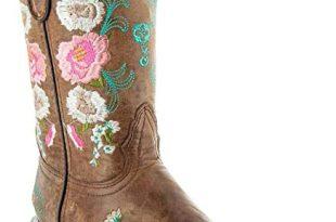 Amazon.com | Soto Boots Women's Jasmine Floral Square Toe Cowgirl .