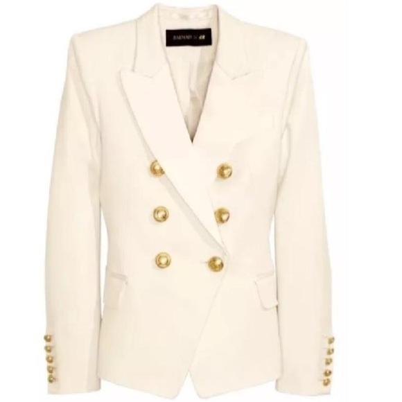 Balmain x H&M Jackets & Coats   Balmain Cream Jacket   Poshma