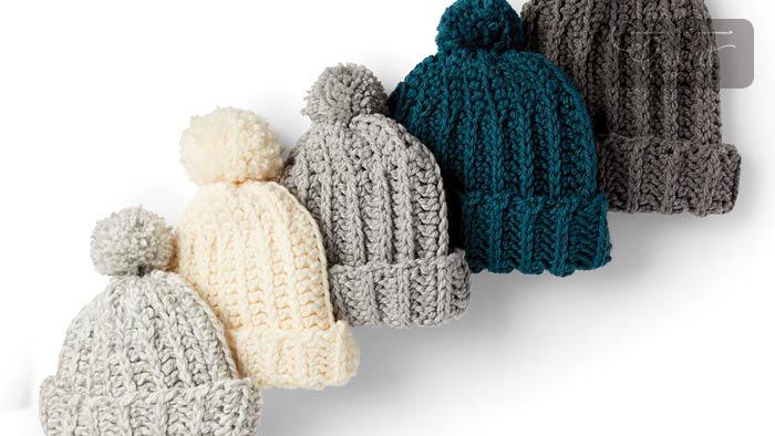 Charity Crochet Basic Ribbed Family Hat Pattern   The Crochet Cro
