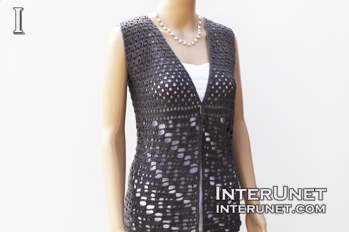 Vest jacket crochet pattern   interun