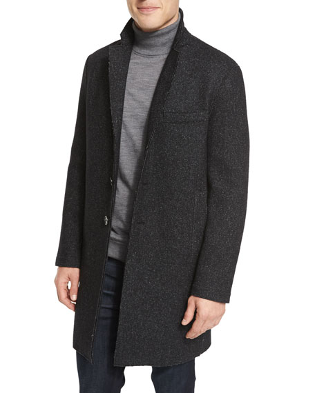 Michael Kors Wool-Blend Knit Crombie Co