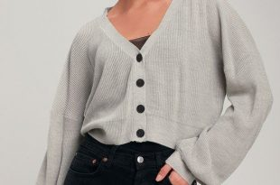 Staying Cozy Light Grey Cropped Cardigan Sweater in 2020 | Sweater .