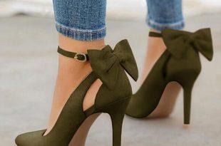 Mychelly Women Cute Bowknot High Heels on Sa