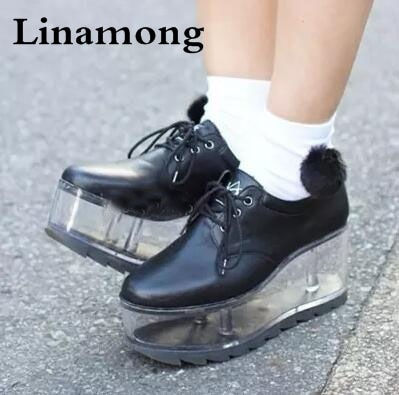 Spring new arrival personality cute shoes transparent bottom can .