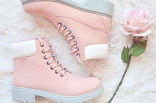 shoes pink boot boots white pastel tumblr cute teenagers girl .