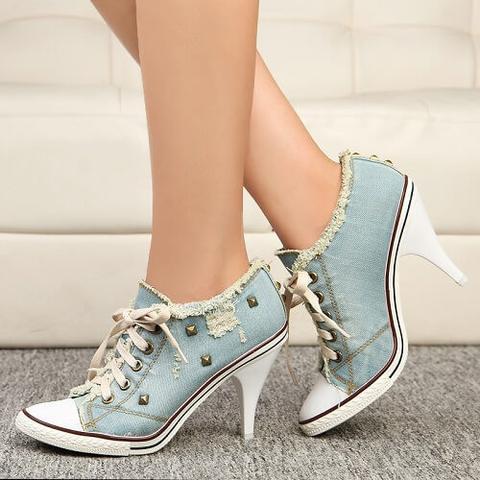 Super Cute Shoes Denim Canvas Pumps, All Sizes – DirtySouthVintage.c