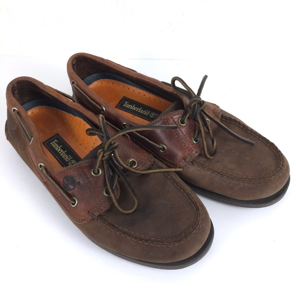 Timberland Shoes   90s Vtg Brown Suede Boat Deck   Poshma