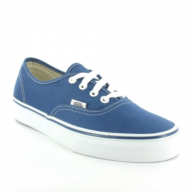 Buy Vans Authentic Womens 4-Eyelet Deck Shoes - Light Navy & White .