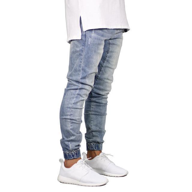 Stretch Men Jeans Denim Jogger Design Hip Hop Joggers For Men .