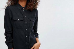 Women Black Denim Shirt Wholesale Manufacturer & Exporters Textile .
