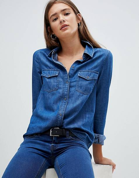 Women's Denim Shirts | Chambray Shirts & Denim Tops | AS