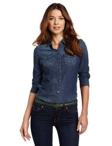 Calvin Klein Jeans Women's Fitted Denim Shirt Calvin Klein Jeans .