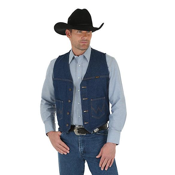 Wrangler® Unlined Denim Vest Prewashed | Mens Jackets and .