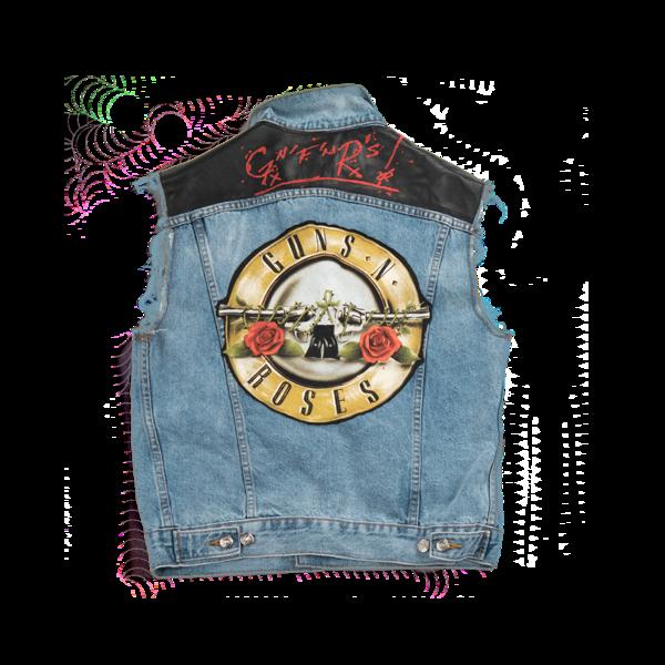 GNF'NR Denim Vest – Guns N' Roses Official Sto