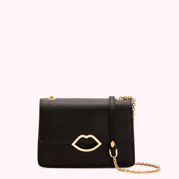 Black Leather Polly Clutch   Designer Clutch Bags   Lulu Guinne