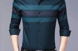 2019 social long sleeve striped designer shirts men slim fit .
