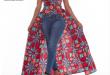 L059 african top with open skirt ladies african print designer .