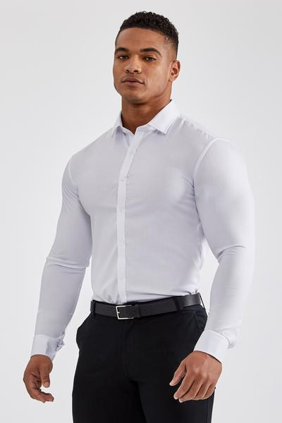 Essential Dress Shirt in White – TAILORED ATHLE